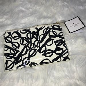 NWT KATE SPADE LITERARY GLASS PENCIL CASE